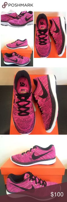 🎈NIB🎈 Nike Flyknit Lunar 3 Pink Foil/Black Will do $90 FIRM ON Ⓜ️. ACCEPTING REASONABLE OFFERS. NEW IN BOX. 🚫 NO TRADES OR LOWBALLERS. Accepting reasonable offers. Never worn. (Some markings on bottom of shoe from trying shoe in the store). 💯 authentic. Make me an offer 😊 Retail is $150. DO NOT COMMENT ANY INAPPROPRIATE COMMENTS. You will Be automatically blocked and reported for harrasment. Nike Shoes Sneakers