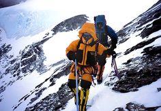 Phil and Susan Ershler descending Everest.