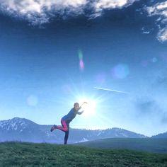 Beim joggen die Sonne im Griff :)