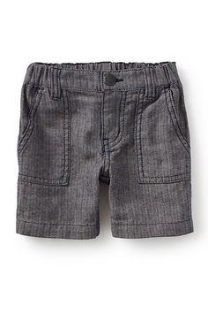 Street Stripes Linen & Cotton Shorts (Baby Boys)