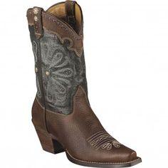 10004577 Ariat Women's Daisy Western Boots - Brown/Blue www.bootbay.com