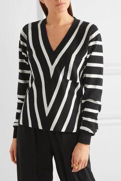 Chloé - Striped Cotton Sweater - Black - large