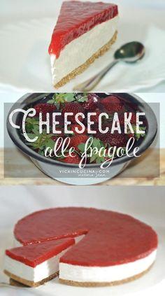 Strawberry cheesecake recipe by Vicaincucina Cheesecake Factory Recipe Chicken, Easy No Bake Cheesecake, Banana Cheesecake, Strawberry Cheesecake, Strawberry Recipes, Cupcakes Cheesecake, Brownies Cheesecake, Turtle Cheesecake, Cheesecake Bites