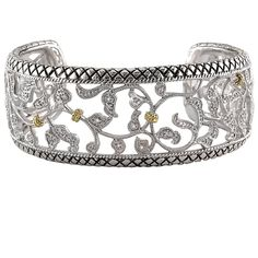 Andrea Candela 18K YG and Stirling Silver Filigree Cuff $500