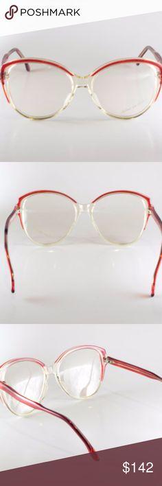 aa747439286 ... Robert La Roche Mod 838 Col Lr61 54-16 55-17-139 Unisex Vintage Frames  Vintage Eyeglasses Red NOS Deadstock Vintage Eyeglasses or Sunglasses  Frames  ...