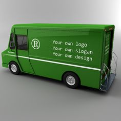 delivery truck branding | courier delivery truck ups max - UPS Courier truck Morgan Olson van ...