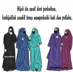 Hasil Gambar Anime Muslimah Bercadar Nurizzatunilmawaty Foto Akhwat Animasi Hijab