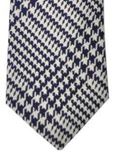 Turnbull & Asser Tie - huge reduction - sale, #turnbullasser @tiedeals plaid #houndstooth design hand made in England