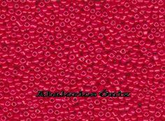 Artesanías y Abalorios Ónix: Mostacillas, o rocallas en color rojo monza.