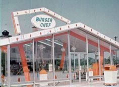 Burger Chef restaurants- my mom and dad's tire shop is in one of these buildings. :-)