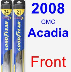 Front Wiper Blade Pack for 2008 GMC Acadia - Hybrid