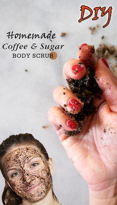DIY Homemade Coffee Sugar Body Scrub :  > http://www.homeremedyshop.com/diy-homemade-coffee-sugar-body-scrub/