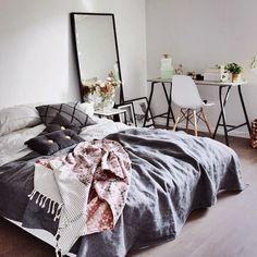 Shop The Look -  Black Leaning Dressing Mirror  https://www.wayfair.com/USA-Made-Silver-Accent-Black-Floor-Mirror-BM11-BRWO1191.html
