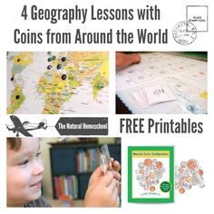 Here are four lessons we did as we learned about coins from around the world. Keep reading to find FREE printables and how much fun we had with our World Coin Collection!