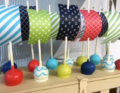 Make Waves with these Nautical Cake Pops from @Allison j.d.m j.d.m j.d.m j.d.m McWhorter