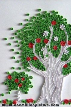 interesting paper tree design on a wall