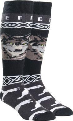 Neff Men's Wolf Socks - Black