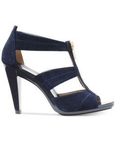 Michael Michael Kors Berkley T-Strap Sandals - Blue 7M