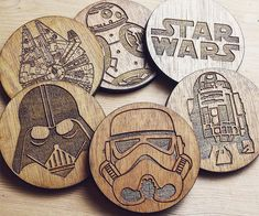May the force be with your drink this season with these wooden star wars coaters. - CoolShitiBuy.com