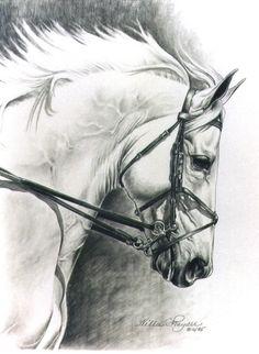 Show Jumper Horse Art Print by Equine Artist by frayserstudio, $32.00