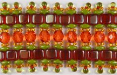 11/0 11RR0007 TSL Medium Orange Miyuki Rocailles 10 Grams CheckMates Two Hole Tile 6mm CZTWN06-Z9008 Celsian Siam Ruby 25 Beads   Firepolish 6mm : FP6-G0933 - Coated - Salmonberry - 25 pieces   Miyuki Drop/Fringe Seed Beads 3.4mm DPF28 F ICL Red/Chartreuse   SuperDuo 2/5mm : 8 Grams - TSD-GM53420 - Opaque Olive - Marbled Gold