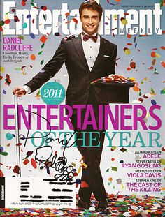 Daniel Radcliffe Harry Potter Autograph Signed Entertainment Weekly Magazine