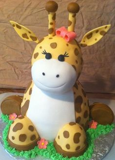 Giraffe cake. This would be cute at a baby shower!