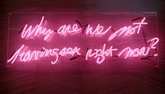 why are we not having sex right now neon - Cerca con Google