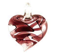 Murano Glass Amethyst Purple Swirl Heart Pendant Bleek2Sheek. $8.99. Style: Pendant. Colors: Clear & Purple. Design: Heart. Measures 2 in long. Does not include chain. Save 55% Off!