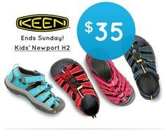 30% off Kid's Keen Newport H2 this weekend only!