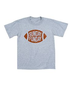 Love this Athletic Heather 'Sunday Funday' Football Tee - Toddler & Boys on #zulily! #zulilyfinds