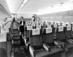 McDonnell Douglas DC-10 interior around 1974