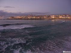 Tramonto su La Coruña ammirato dalla playa del Riazor, #spagna