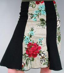 Beautiful 1950′s bark cloth skirt
