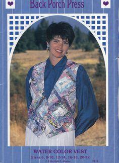 Back Porch Press P018  Misses Water Color Patchwork Vest by mbchills