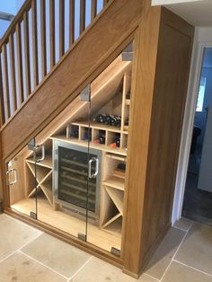 Rich Newman Joinery & Interiors - Affordable Quality Joinery in West Oxfordshire Staircase Wall Decor, Staircase Storage, Basement House, House Stairs, Home Stairs Design, House Design, Under Stairs Nook, Under Stairs Wine Cellar, Casa Disney