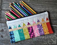 Scrappy pencil case | por Sew Me Something Good