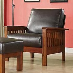 Oxford Creek Marlin Mission-Inspired Arm Chair in Brown Faux Leather & mission style recliner | For the Home | Pinterest | Recliner ... islam-shia.org