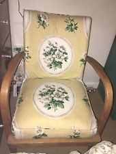 1950's Vintage Small Armchair With Beautiful Kitsch Fabric.