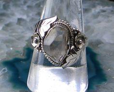 Sz 8, Natural HERKIMER DIAMONDGemstone, 925 Solid Sterling Silver Roman Style Ring Jewellery! by AmeogemJewellery on Etsy