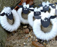 These could be sheep ornaments for missionaries: John  10:16 I have other sheep that are not of this sheep pen. I must bring them also. They too will listen to my voice, and there shall be one flock and one shepherd.