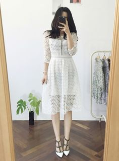 #OZNARA style2016 #EUNHEE Office Fashion, Daily Fashion, Women's Fashion, Fashion Trends, Civil Wedding, Daily Style, Formal Wear, Korean Fashion, Random