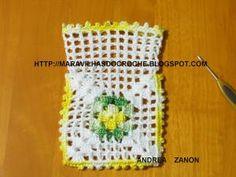 Clutch En Crochet, Crochet Sachet, Crochet Gloves Pattern, Granny Square Crochet Pattern, Crochet Patterns, Cute Crochet, Knit Crochet, Crochet Hats, Crochet Mignon