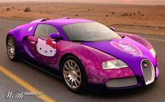 Real Girly 'Hello Kitty' Bugatti! any guys that like this?