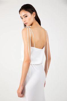 in white sandwashed silk Gigi Dress, Silk, Celebrities, Collection, Color, Dresses, Women, Fashion, Vestidos