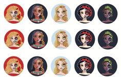 "*DISNEY SUGAR SKULL* Precut Bottle Cap Images 1"" inch 15-60 LOT 2 #shouldistayorshouldibownow"