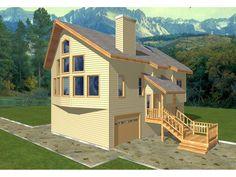 Frederickcliff A-Frame Home  from houseplansandmore.com