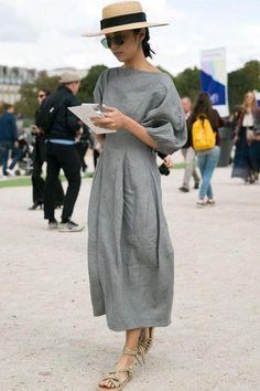 On the street at Paris Fashion Week. Photo: Emily Malan/Fashionista