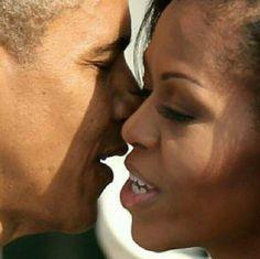 Barack and Michelle Obama.  Love so fine.