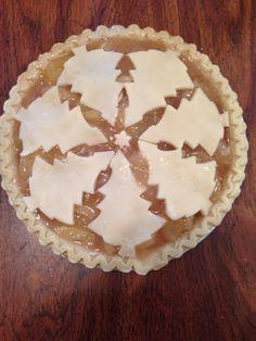 Christmas Tree w/ star Crust Apple Pie